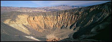 Volcanic Ubehebe crater. Death Valley National Park (Panoramic color)