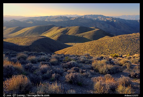 Tucki Mountains from Aguereberry point, late afternoon. Death Valley National Park (color)