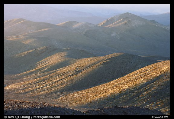 Tucki Mountains in haze of late afternoon. Death Valley National Park (color)