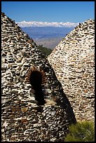 Charcoal kilns with Sierra Nevada in backgrond. Death Valley National Park, California, USA. (color)