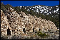 Wildrose charcoal kilns in the Panamint Range. Death Valley National Park, California, USA. (color)