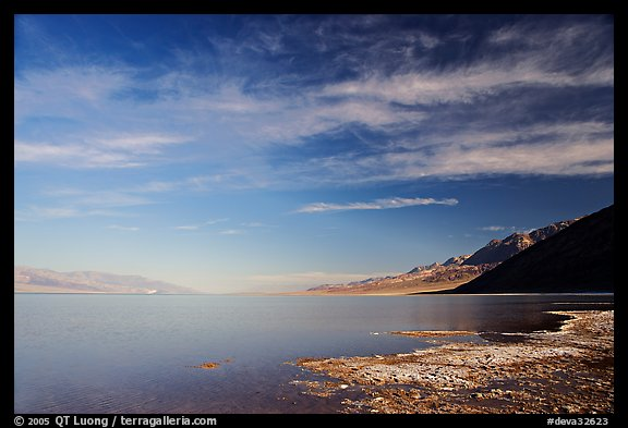 Valley and Lake at Badwater, early morning. Death Valley National Park (color)