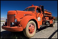 Firetruck at Stovepipe Wells. Death Valley National Park, California, USA. (color)