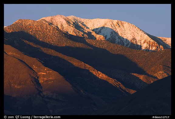 Telescope Peak at sunset. Death Valley National Park (color)