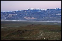 Panamint Valley and Panamint Range, dusk. Death Valley National Park ( color)