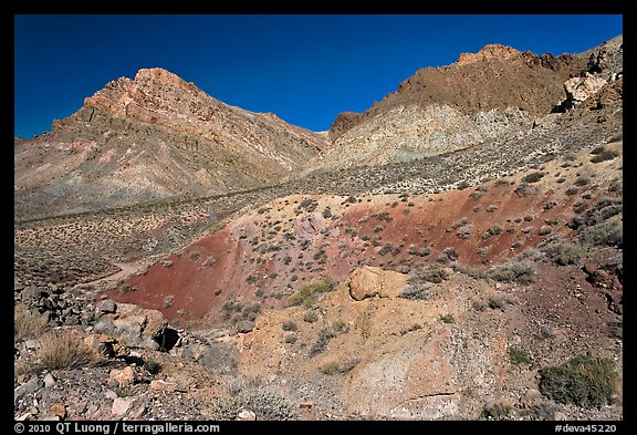 Slopes above Titus Canyon. Death Valley National Park (color)
