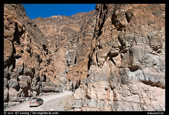 Titus Canyon Narrows. Death Valley National Park (color)