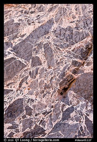 Detail of marbled wall, Titus Canyon. Death Valley National Park (color)