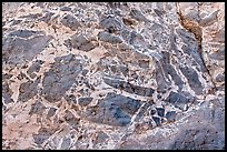 Marbled wall with patterns, Titus Canyon. Death Valley National Park ( color)