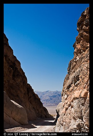 Mouth of Titus Canyon and valley. Death Valley National Park (color)