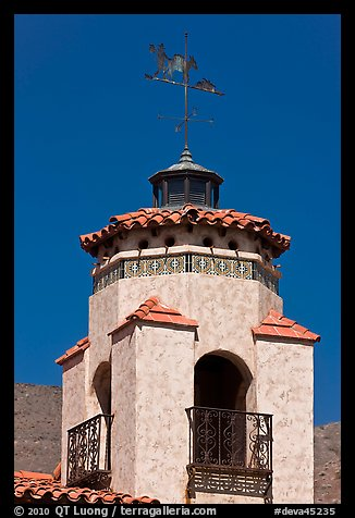 Tower and weathervane, Scotty's Castle. Death Valley National Park (color)