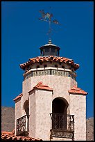Tower and weathervane, Scotty's Castle. Death Valley National Park, California, USA. (color)