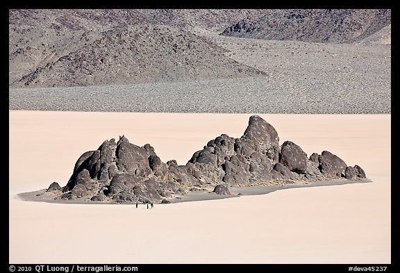 Grandstand and Racetrack playa. Death Valley National Park (color)