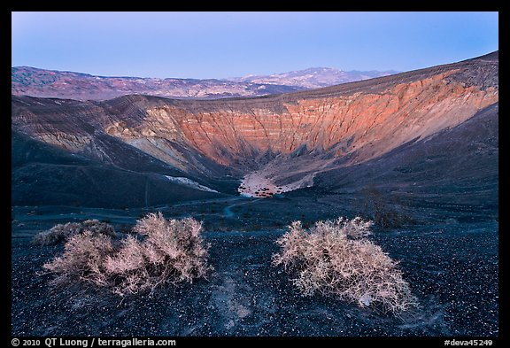 Ubehebe Crater at twilight. Death Valley National Park (color)