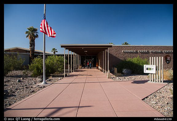 Furnace Creek Visitor Center. Death Valley National Park (color)
