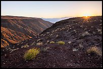 Sunrise, Father Crowley Viewpoint at sunrise. Death Valley National Park ( color)