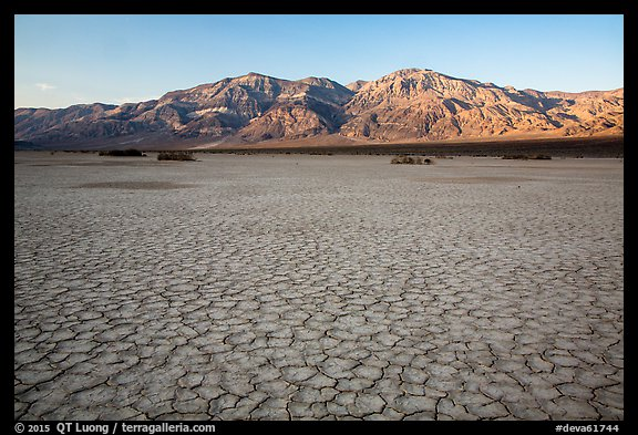 Mud playa, Panamint Valley. Death Valley National Park (color)