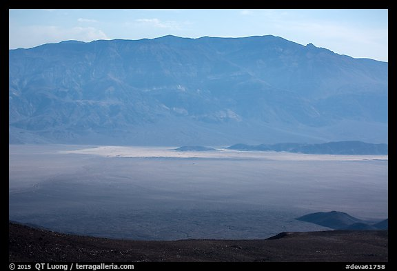 Panamint Valley and Playa from above. Death Valley National Park (color)