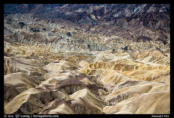Badlands near Zabriskie Point. Death Valley National Park (color)