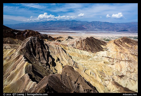 Manly Beacon and salt pan. Death Valley National Park (color)