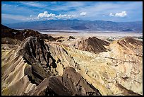 Manly Beacon and salt pan. Death Valley National Park ( color)