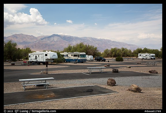 Furnace Creek Campground. Death Valley National Park (color)