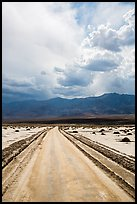 Road crossing Salt Pan. Death Valley National Park ( color)