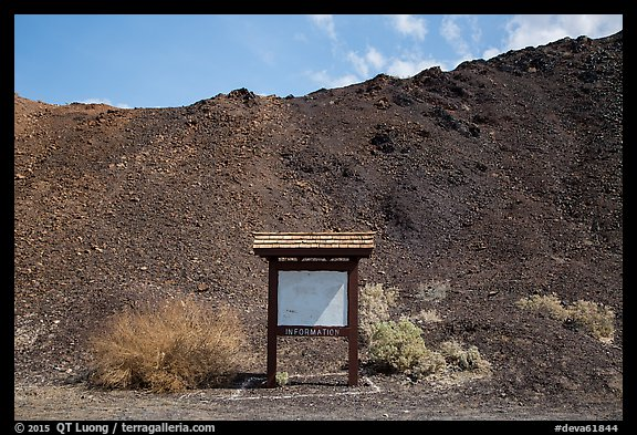 Blank information sign, Saragota Springs. Death Valley National Park (color)