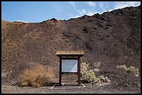 Blank information sign, Saragota Springs. Death Valley National Park ( color)