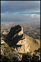 El Capitan backside seen from Guadalupe Peak. Guadalupe Mountains National Park ( color)