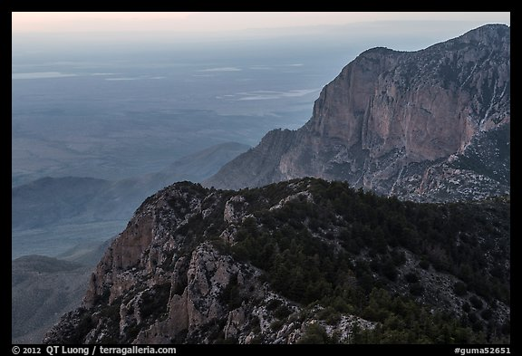 Western ridges of Guadalupe Mountains. Guadalupe Mountains National Park (color)