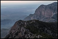 Western ridges of Guadalupe Mountains. Guadalupe Mountains National Park ( color)