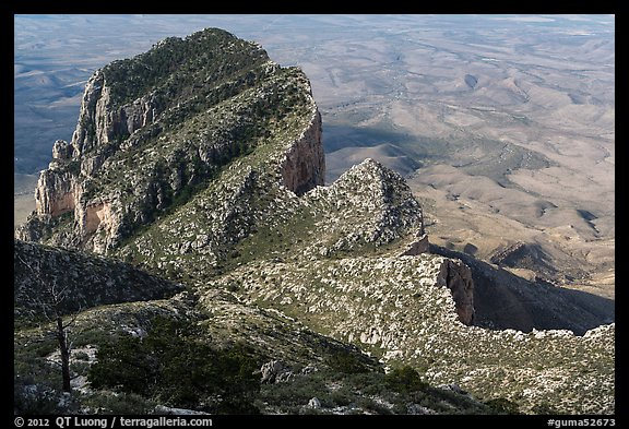 Backside of El Capitan. Guadalupe Mountains National Park (color)