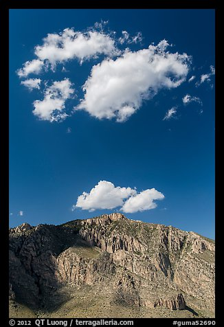 Clouds above Hunter Peak. Guadalupe Mountains National Park (color)