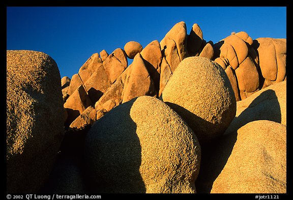 Jumbo rocks, sunset. Joshua Tree National Park (color)