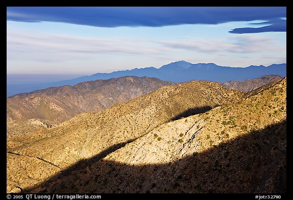 Ridges from Keys View, early morning. Joshua Tree National Park (color)