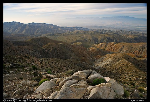 Keys View and Coachella Valley, morning. Joshua Tree National Park (color)