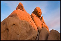 Granite boulders at sunrise. Joshua Tree National Park ( color)