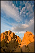 Rocks and clouds. Joshua Tree National Park ( color)