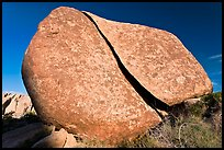 Boulder split by crack. Joshua Tree National Park ( color)