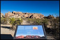 Interpretive sign, monzogranite formation. Joshua Tree National Park ( color)