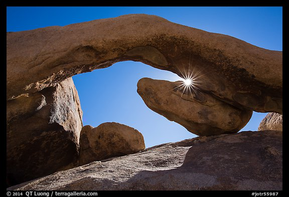 Sunburst and Arch Rock. Joshua Tree National Park (color)