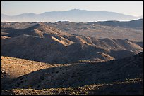 San Bernardino Mountains from Ryan Mountain. Joshua Tree National Park ( color)