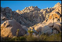 Towering rock formations, Indian Cove. Joshua Tree National Park ( color)