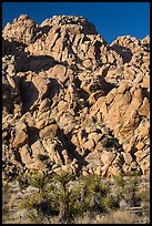 Wall of boulders, Indian Cove. Joshua Tree National Park ( color)