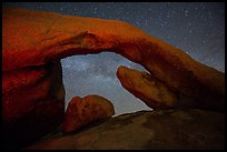 Arch Rock and night sky with Milky Way. Joshua Tree National Park ( color)