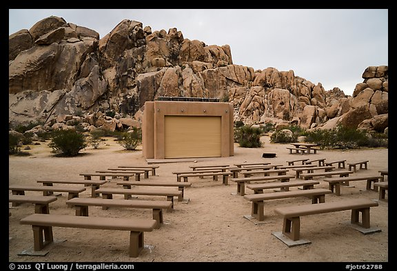 Amphitheater, Indian Cove Campground. Joshua Tree National Park (color)