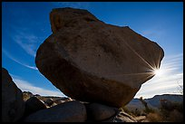 Balanced Rock with sunstar. Joshua Tree National Park ( color)