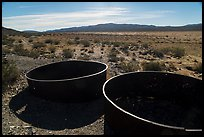 Metal tanks, Gold Coin Mine, Pleasant Valley. Joshua Tree National Park ( color)