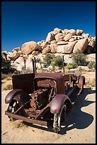 Rusting car near Wall Street Mill. Joshua Tree National Park ( color)